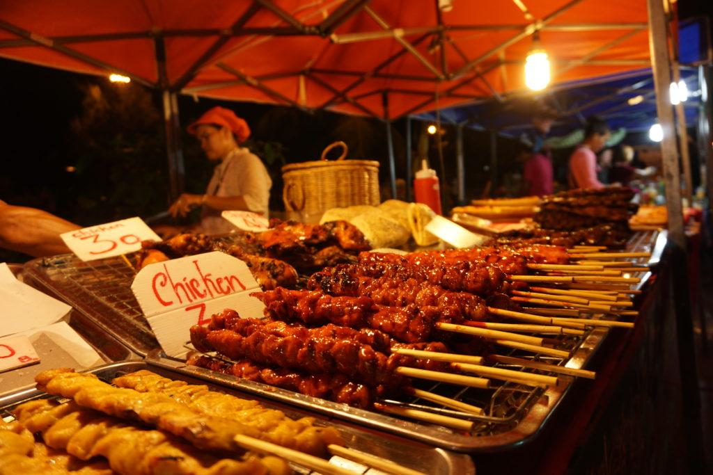 Koh Phangan Market Thai food